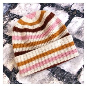 Madewell 100% Cashmere Striped Beanie